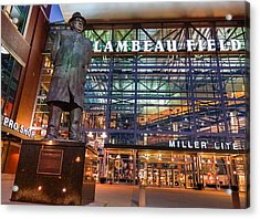 Lombardi At Lambeau Acrylic Print by Bill Pevlor