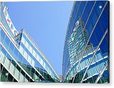 Lombardy Building Acrylic Print by Valentino Visentini