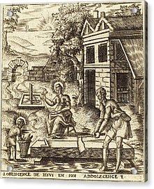 Léonard Gaultier French, 1561 - 1641, Jesus The Obedient Acrylic Print