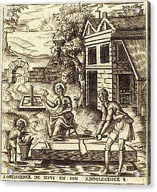Léonard Gaultier, French 1561-1641, Jesus The Obedient Son Acrylic Print