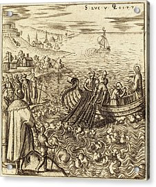Léonard Gaultier, French 1561-1641, The Miraculous Draught Acrylic Print by Litz Collection
