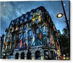 London 012 Acrylic Print by Lance Vaughn