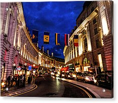 London 022 Acrylic Print by Lance Vaughn