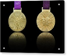 London 2012 Olympics Gold Medal Design Acrylic Print by Matthew Gibson