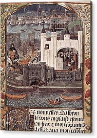 London And The Thames 15th C.. Gothic Acrylic Print by Everett