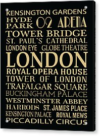London Attractions Acrylic Print by Jaime Friedman