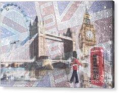 London Blue Acrylic Print by Hannes Cmarits