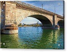 London Bridge Across Lake Havasu Canal  Acrylic Print by Fred Larson