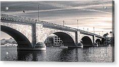 London Bridge Panorama Acrylic Print by Gregory Dyer