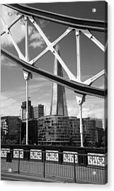 London Bridge With The Shard Acrylic Print by Chevy Fleet
