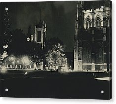 London Buildings Flood-lit Once Again� Acrylic Print by Retro Images Archive