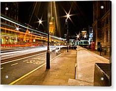 London By Night Acrylic Print by Gabor Fichtacher