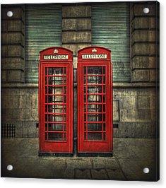 London Calling Acrylic Print by Evelina Kremsdorf