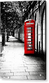 London Calling - Red Telephone Box Acrylic Print by Mark E Tisdale
