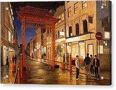 London Chinatown Acrylic Print by Paul Krapf