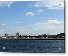 Acrylic Print featuring the photograph London City Airport by Helene U Taylor