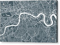 London City Map Acrylic Print