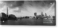 London City Panorama Acrylic Print by Pixel Chimp