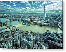 London Cityscape Acrylic Print by Peter Zelei Images