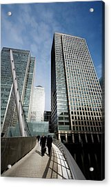 London Docklands Skyscrapers Acrylic Print by Carlos Dominguez