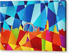 London England Skyline Acrylic Print by Michael Tompsett