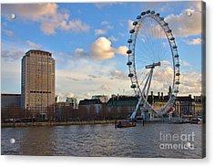 London Eye And Shell Building Acrylic Print