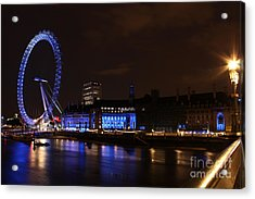 London Eye At Night Acrylic Print