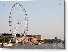 Acrylic Print featuring the photograph London Eye Day by Matt Malloy