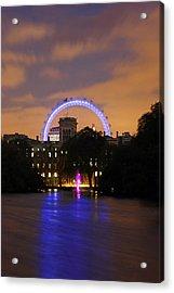 London Eye From St James Acrylic Print by Dan Davidson