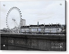 London Eye Mono Acrylic Print