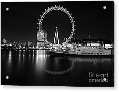 London Eye Mono Acrylic Print by Matt Malloy