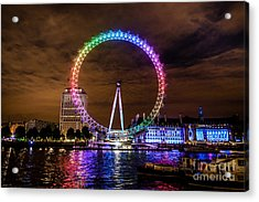 London Eye Pride Acrylic Print by Matt Malloy