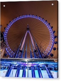 London Eye Supports Acrylic Print by Matt Malloy