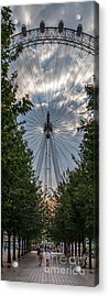 London Eye Vertical Panorama Acrylic Print by Matt Malloy