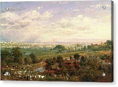 London From Islington Hill, Frederick Nash Acrylic Print by Litz Collection