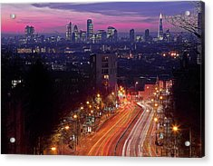 London From The Hornsey Lane Bridge Acrylic Print by By Andrea Pucci