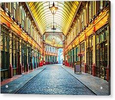 London Leadenhall Hall Market Street Arcade Acrylic Print by NicolasMcComber