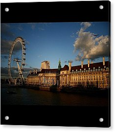 #london #londoneye #westminsterbridge Acrylic Print