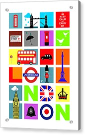 London Acrylic Print by Mark Rogan