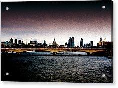 London Over The Waterloo Bridge Acrylic Print by RicardMN Photography