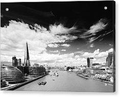 London Panorama Acrylic Print by Chevy Fleet