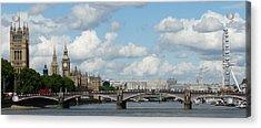 London Panorama Acrylic Print by John Topman