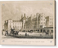 London. Parliament. Engraving - � J Acrylic Print by Everett