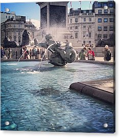 #london #piccadelly #water #uk Acrylic Print by Abdelrahman Alawwad
