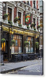 Acrylic Print featuring the photograph London Pub by Brian Jannsen