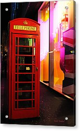 London Red Phone Booth Acrylic Print