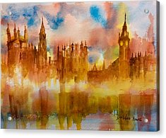 London Rising Acrylic Print by Debbie Lewis