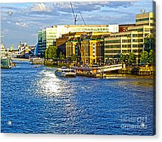 London River Thames Acrylic Print