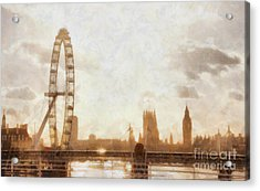 London Skyline At Dusk 01 Acrylic Print