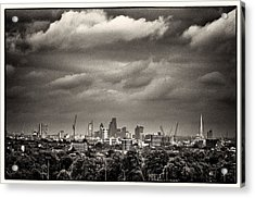 London Skyline From Hampstead Heath Acrylic Print